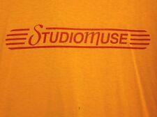 STUDIOMUSE logo lrg T shirt Houston music Texas label Villarreal & Franks 1980s