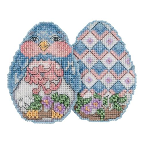 Bluebird Egg Counted Cross Stitch Kit Mill Hill 2018 Jim Shore JS181816