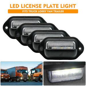 2Pcs 12V LED Arrière Feux Plaque Licence Lumière Blanc Pour Remorques Camion