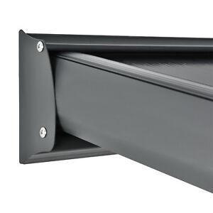 Aluminium-Terrassendach-Borneo-Uberdachung-Carport-4x3-m-grau-mit-Doppelsteg-Pl