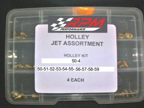 Holley Carburetor 1//4-32 GAS MAIN JETS ASSORTMENT KIT 50-59 4 EACH 40PACK 50-4
