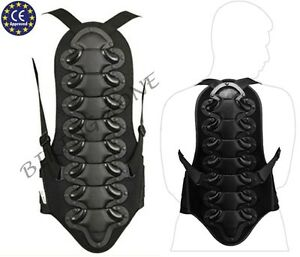 Back Spine Protector Spine Armour Protection Body Guard for Motocross//Motorcycle Racing Skiing//Snowboarding Skating Back Protector Motorbike Black,One Size