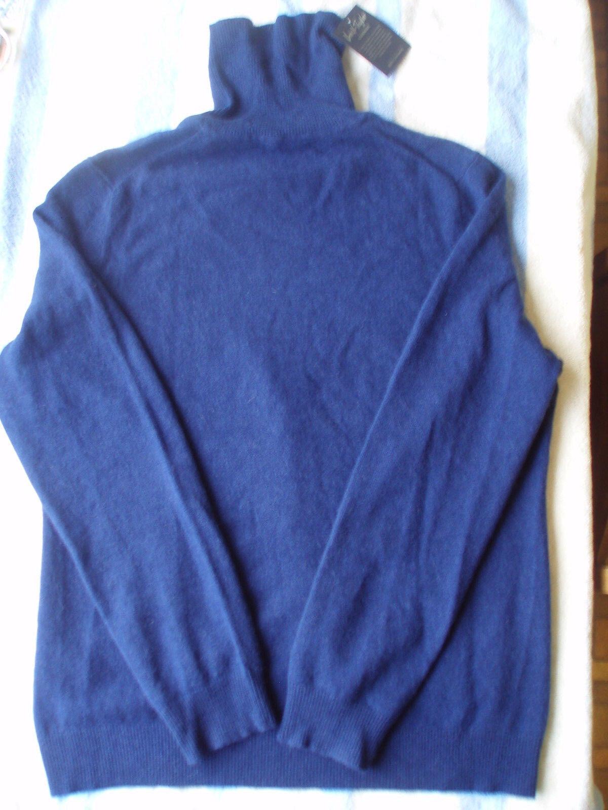 NWT Cashmere bleu turtleneck chandail Taille XL - very soft