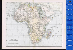Continent Of Africa 1885 Mackenzie Color Map Ebay