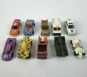 Vintage-Diecast-coches-Hot-Wheels-Matchbox-Majorette-Lote-de-10