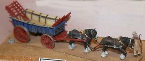 Farm-Cart-2-Shire-horses-Carter-G26-UNPAINTED-OO-Scale-Langley-Models-Kit-1-76