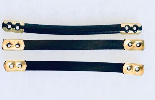 3 Cappotto laccio plastica con tappi in ottone alla fine 9 cm