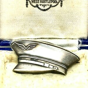 Vintage-WW2-RAF-Airforce-Sweetheart-Sterling-Silver-Hat-Brooch