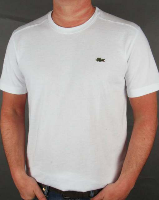 e0852db2b7107 Short Sleeve T-shirt White TH7618 Lacoste Man XS for sale online