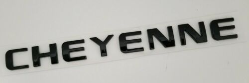 1 BLACK CHEYENNE FIT Chevy EMBLEM Chevrolet NAME TRUNK TAILGATE DOOR BADGE DECAL