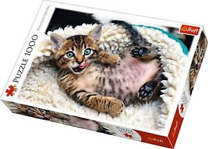 Cheerful Kitten ~ 1000 Piece Trefl Jigsaw Puzzle
