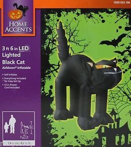 Lighted Black Cat Airblown Inflatable