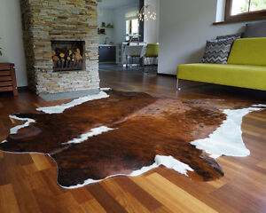 Details About Cowhide Rug Brindle White Belly Cow Hide Area Rugs Hair On