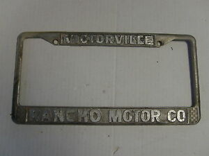 Rancho Motors Victorville >> Details About Rancho Motor Co Victorville Ca License Plate Frame Dealership Metal Embossed Tag