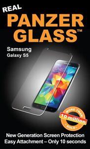 Panzer-Glass-Folie-fuer-Samsung-Galaxy-S5-Displayschutz-schlag-amp-kratzfest-NEU-amp-OVP