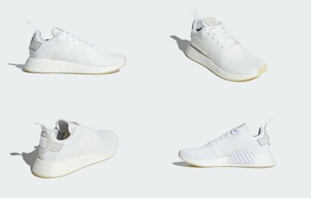 sports shoes b45f4 94f33 adidas NMD R2 Running Triple White Mens Shoes Cq2401 Size 11 US