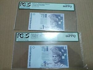 ADT7777713 ADU7777713 66ppq pcgs matching number almost solid banknote malaysia