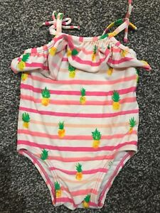 57258a2c19 Baby Girls Swimsuit Costume GAP 3-6m Pineapple Pink Stripes | eBay