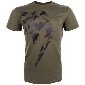 Venum Tecmo Giant T-Shirt Khaki//Black MMA BJJ Training Sparring