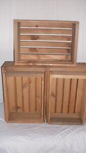 Rustic-wood-crates-2-sets-of-4