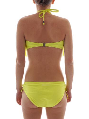Brunotti Bandeau Bikini Bademode Scoof gelb Polster Fransen Triangel