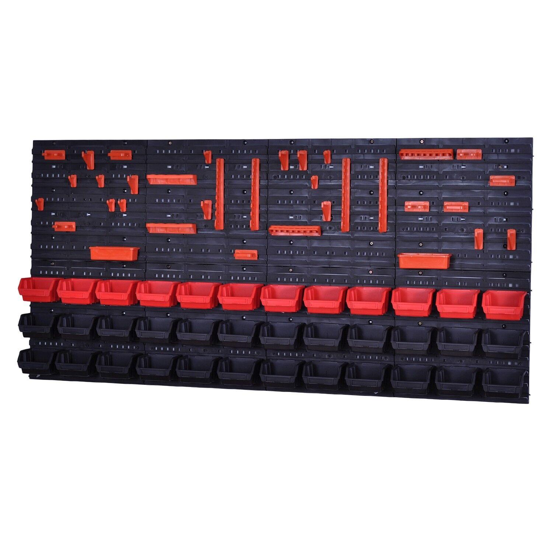 Cajas de Pila Herramienta de Pared 36 Cajas Montagewand red black