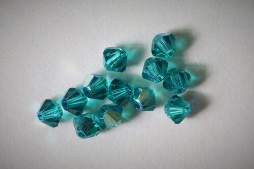48 X Swarovski #5301 BICONE Beads 4mm AB SATIN MAT-FINISH RARE!!