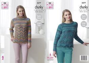 "King Cole Knitting Pattern 3833 Girls Shaped Sweaters Chunky 22-32/"" NEW"