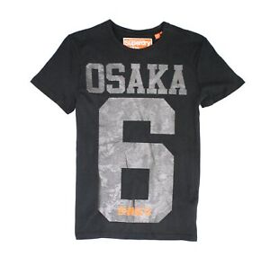 Superdry-Mens-T-Shirt-Gray-Size-Small-S-Embossed-Osaka-Camo-Graphic-Tee-29-048