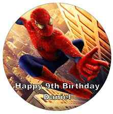 """Spiderman Personalised Cake Topper Edible Wafer Paper 7.5"""""""