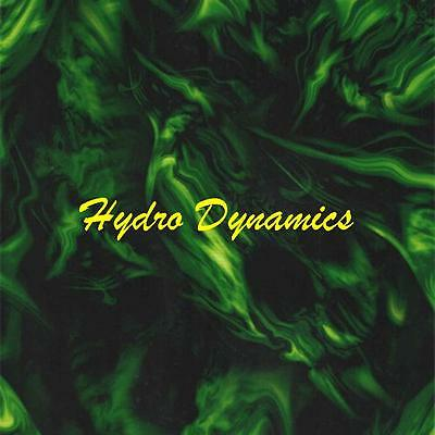 Hydrographics Film Ghostly Green Flaming Skulls Flames Transfer- Hydro Dynamics