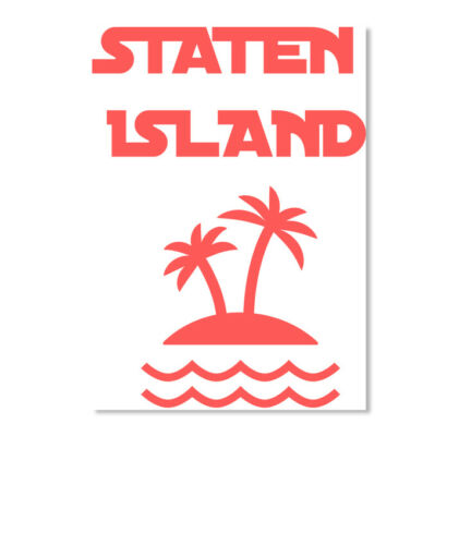 Details about  /Staten Islanders Island Sticker Portrait