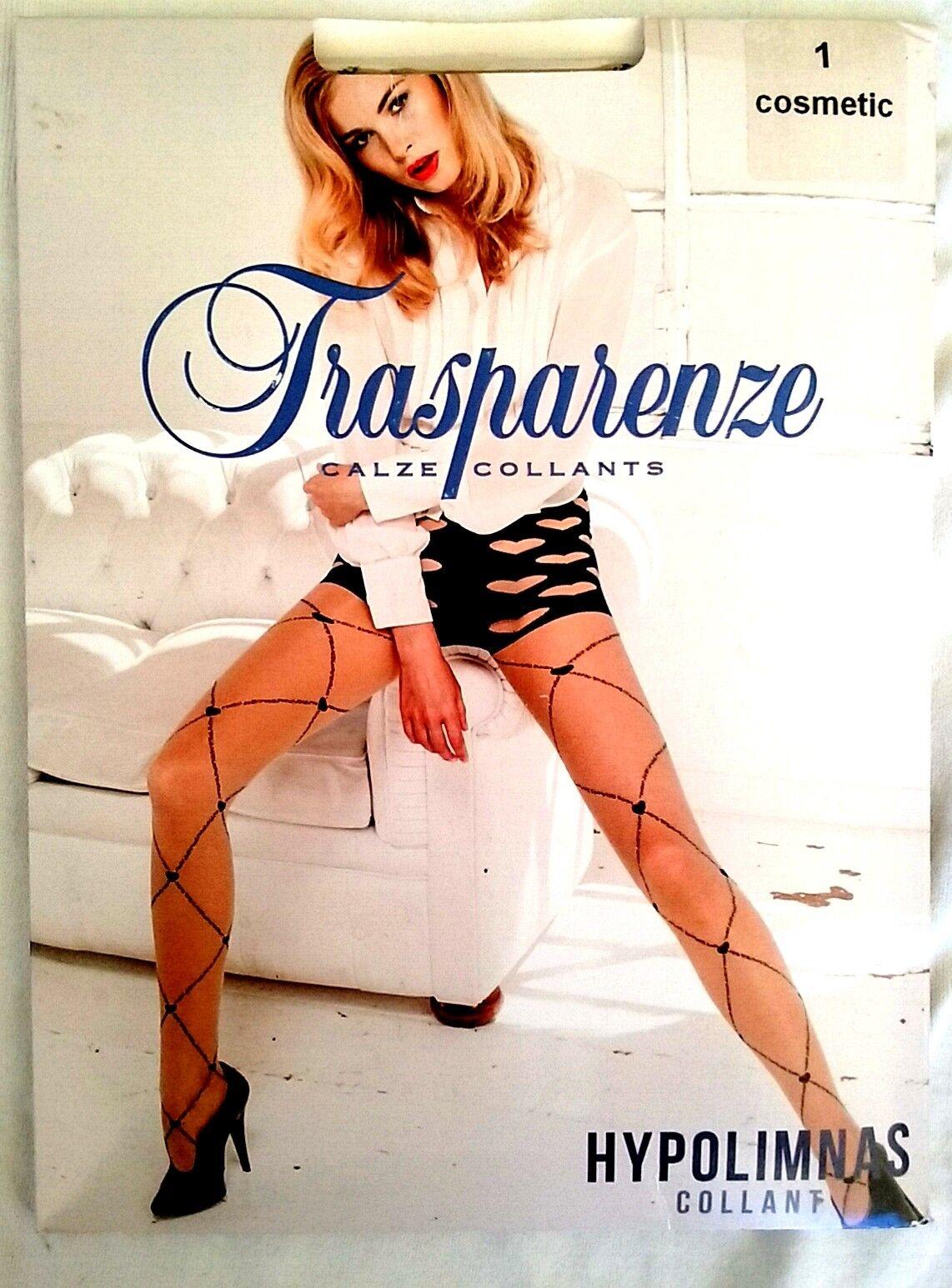 New Trasparenze Hypolimnas Fancy Sheer Tights W Heart Pattern Beige Pantyhose L
