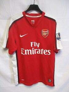 Détails sur Maillot ARSENAL NIKE football shirt n°6 home S