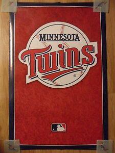 MLB Baseball Poster Minnesota Twins Logo