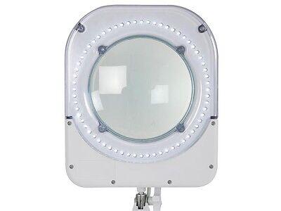 VELLEMAN VTLLAMP5WU LED DESK LAMP WITH MAGNIFYING GLASS  48 LEDS-WHITE-110 Vac