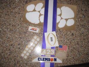 Auburn Tigers NCAA Mini Speed Football Helmet Chrome Decal ... |Tiger Football Helmet Decals