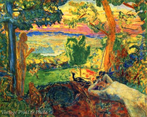 Earthly Paradise by Pierre Bonnard  Art Garden Park Summer Relax 8x10 Print 0686
