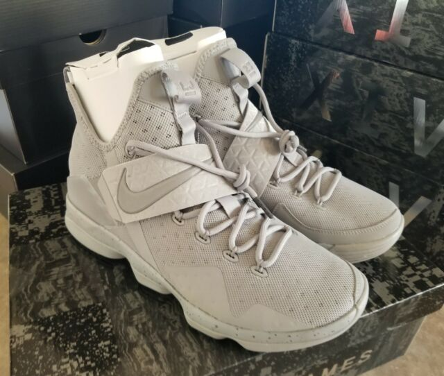2887858ebeed1 Nike Lebron XIV 14 Mens Sz 11 Silver White Reflective Grey James 852405-007