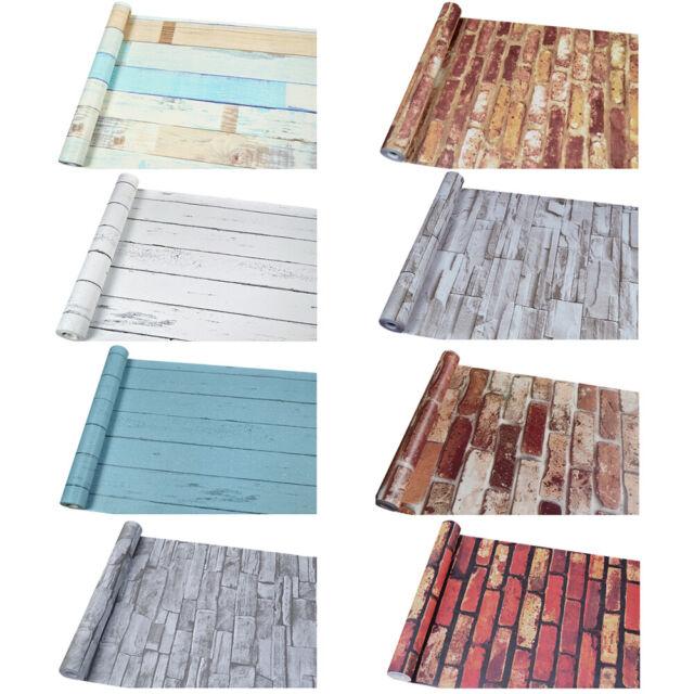 Bedroom Wardrobe Kitchen Cabinets Self Adhesive Stickers Wood Grain Wallpaper