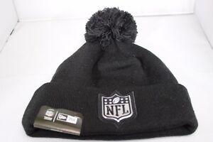 New Era Logo Shine NFL Bobble Hat - Black (BNWT) 191322809409 ... ca7c79c7364