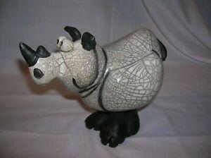 Funny Cute Rhinoceros Figurine