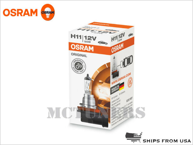 X10 Pack LOT H11 OSRAM Standard 64211L OEM Bulbs 12V 55W PGJ19-2 Germany DOT