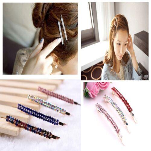 Fashion Delicate Luxury Hairclip For Women Crystal Rhinestone Barrette Hair Clip