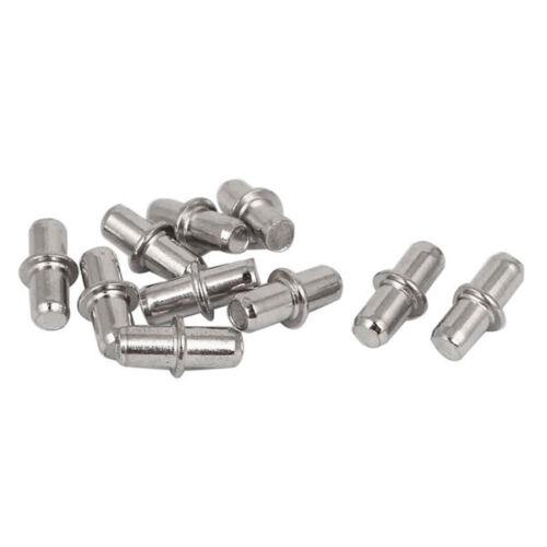 5mm Metal Furniture Cupboard Shelf Pins Pegs Supports Holder 10 Pcs