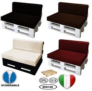 Cuscino per bancali divano pallet di legno varie misure ecopelle idrorepellente ebay - Divano di bancali ...