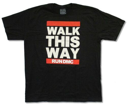 Run DMC Walk This Way Black T-Shirt New Official Adult Merch