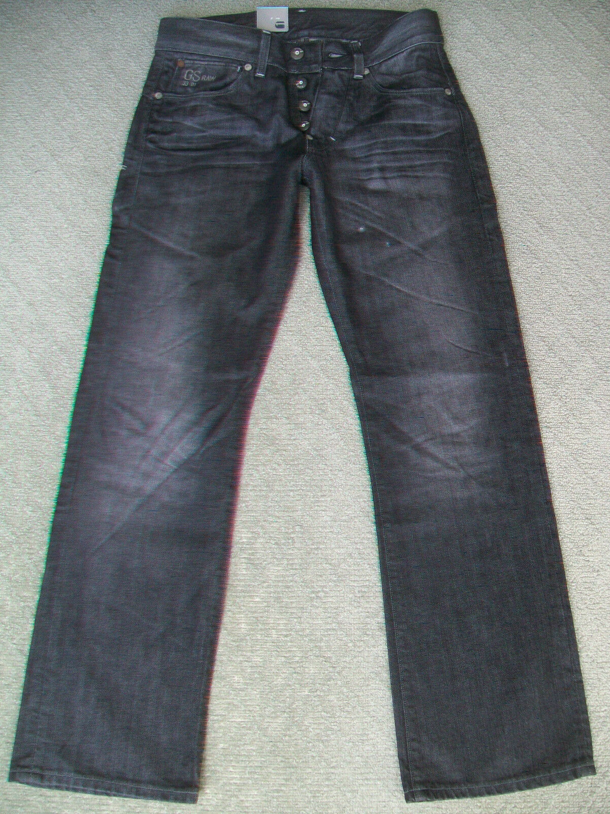 MENS G STAR 'NEW RUGER STRAIGHT' JEANS - BNWT - SIZE 31 L