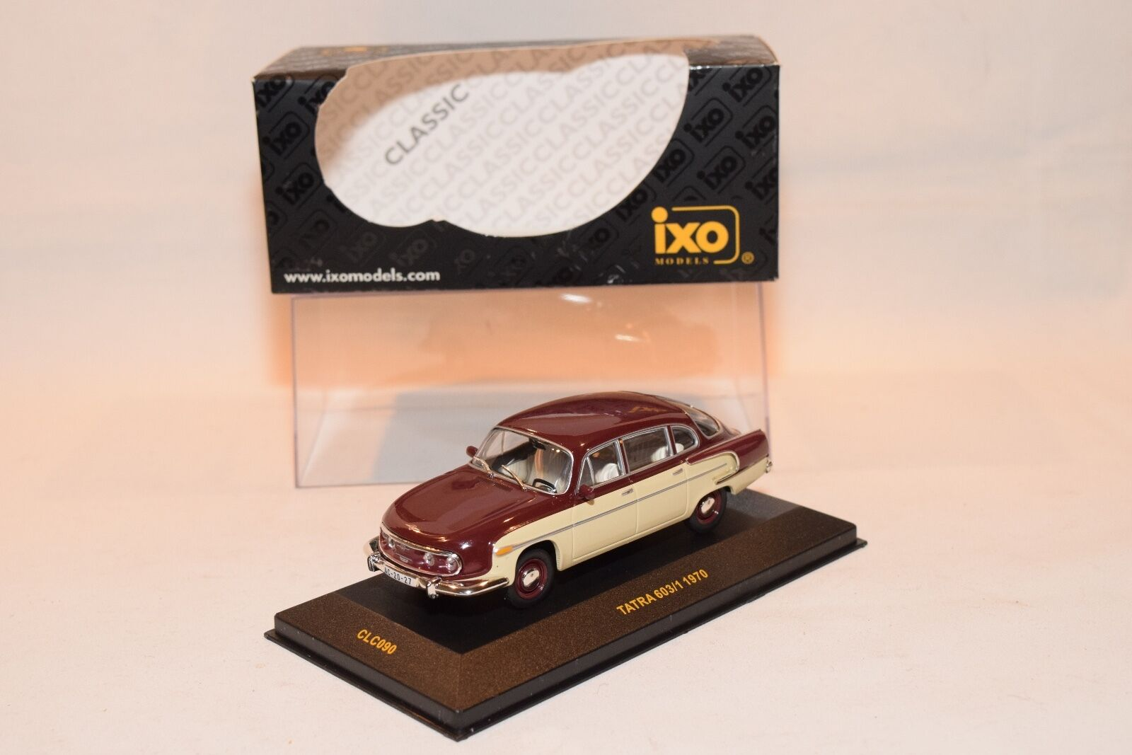 IXO CLC090 CLC 090 TATRA 603-1 603 1 1970 MAROON WITH CREAM MINT BOXED RARE