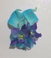 Turquoise Calla Lily Orchid Corsage Or Boutonniere